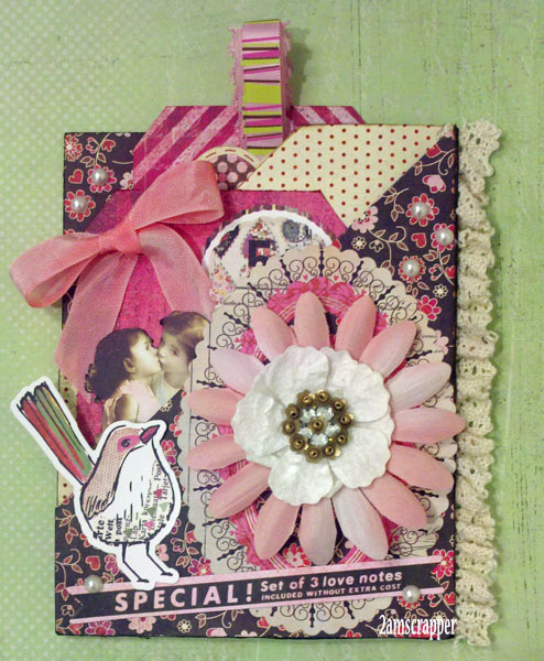 Huber FUL Product CT Basic Grey Kissing Booth  Diagonal Double Pocket Card TODAY2012-02-18