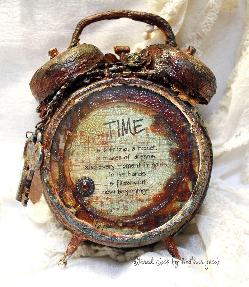 1 altered clock by Heather jacob Guest designer September kit