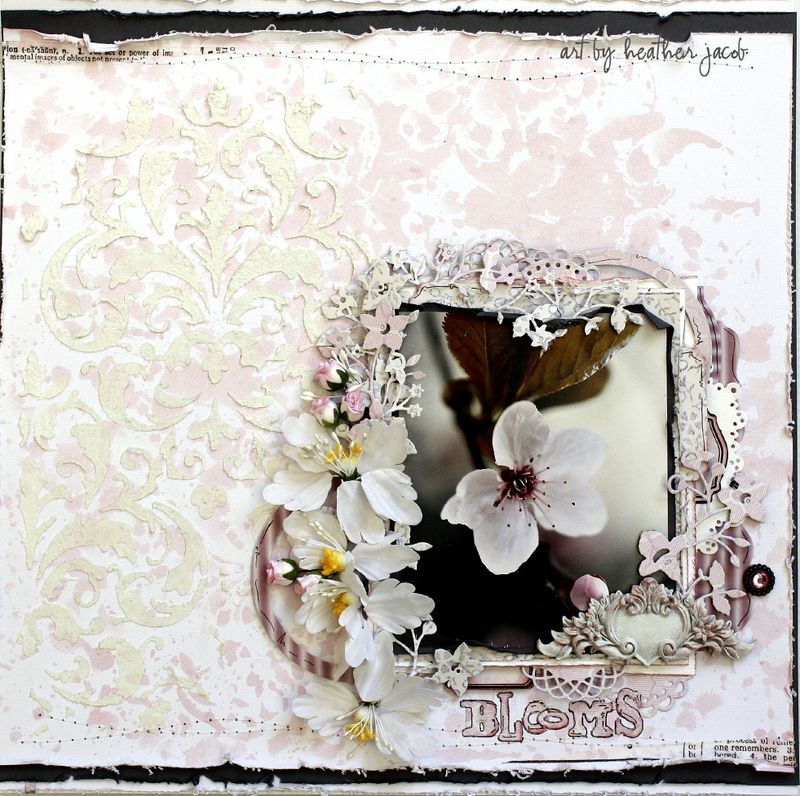 Blooms Layout by Heather jacob September GD kit