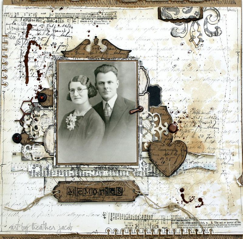 Memories LO by Heather jacob September GD kit