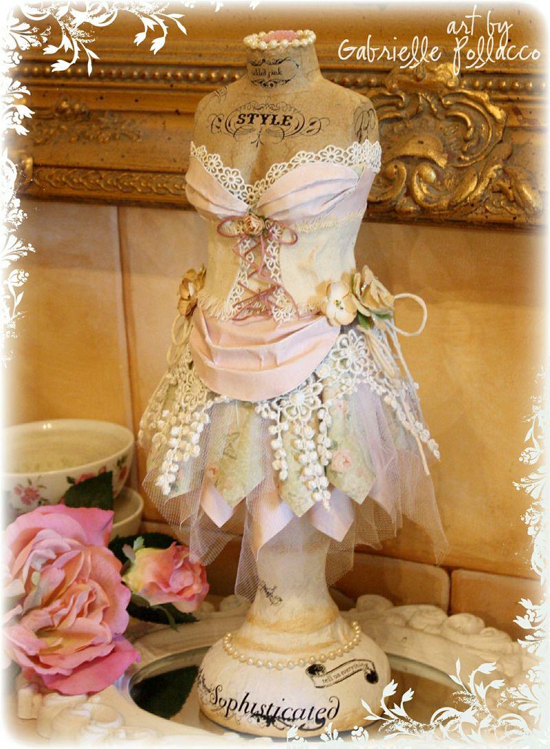 Shabby chic dress form